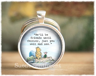 Best Friend Keychain • Long Distance Friendship Keyring • Friendship Quotes • Gifts For Friends • Literary Quotes