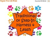 Sale 50% Off Traditional or Step-In Harness & Leash Package!  Dog Harness Set