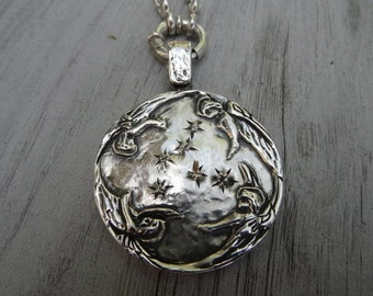 Archangels medallion. Sterling silver. Solid and heavy big medallion.