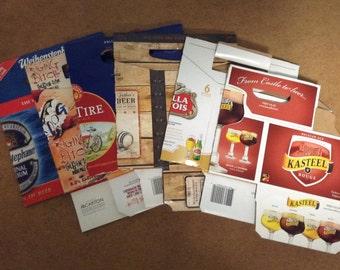 Beer packaging - set of six cardboard holders-