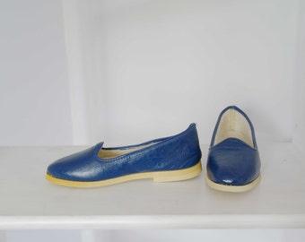60 Vintage Ballerina stuffed blue leather