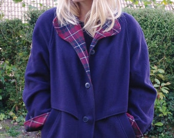 Vintage purple/ blue winter coat