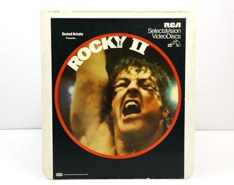 Rocky II RCA SelectaVision VideoDisc / Rocky 2 CED / Vintage Movie Art / Movie poster