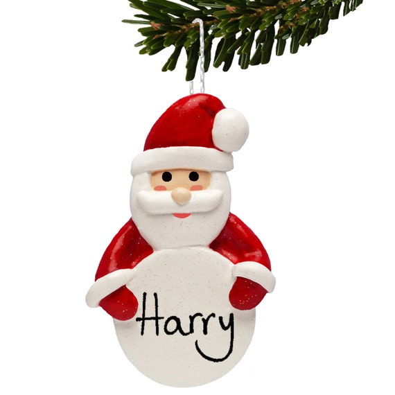 Father christmas tree decorations personalised santa bauble for Personalised christmas decorations