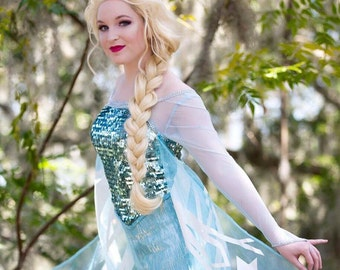 Elsa Frozen Snow Queen Professional Lace Front Wig