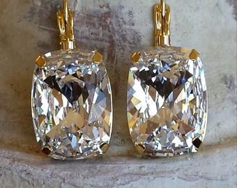 Genuine Swarovski Fancy Crystal Dangle Earings 18 x 13mm