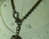 Ball Chain Necklace Crown Heart Heraldry Pendant by 58Diamond