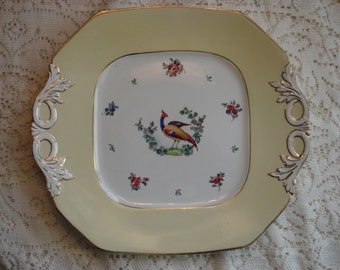 F. Winkle and Co, Wheildon Ware, Old Bow Square Yellow Plate