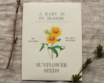 Sunflower Seed Envelope Favor Baby Shower Party Wedding Packet