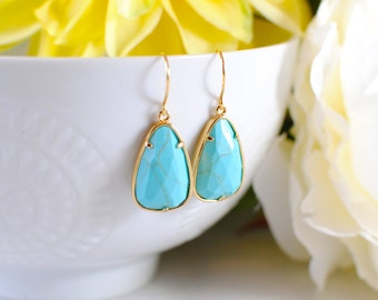 The Laleis Earrings - Turquoise