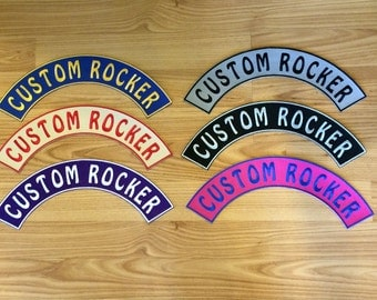 2 Inch Embroidered Custom Rocker Patch Personalized Patch
