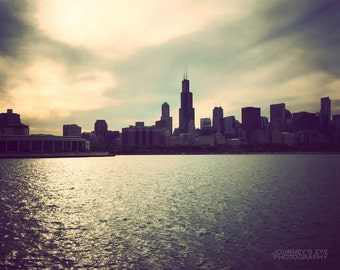 Dreamy Chicago - Illinois, fine art photograph, Chicago picture, surreal, Chicago art, photo print, skyline