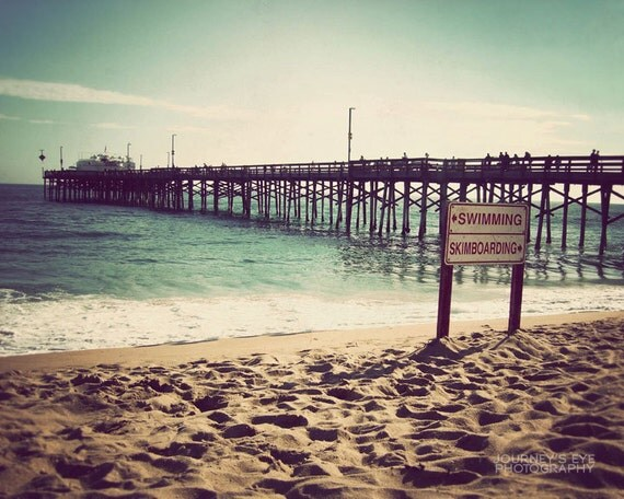 Surfin' USA - California photograph, fine art photo, ocean landscape, beach art, nautical print, retro photography