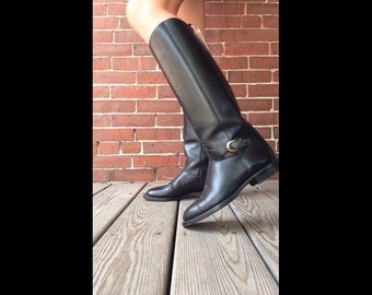 Gorgeous vtg 90s Nine West leather riding boots sz 6