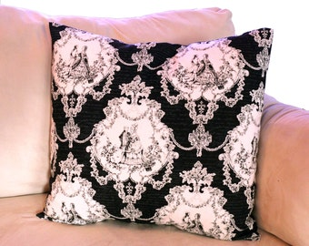 "Marie Antoinette 18"" x 18"" Envelope Pillow Shams - Set of 2"