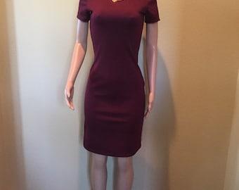 Burgandy Knit Dress