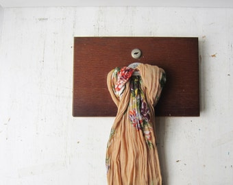 Wall Mount Scarf Display / Tea Towel Display - Reclaimed Wood Drawer from Science Lab - Retail Wall Display - Scarf Holder - Qty Available