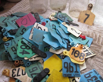 Vintage Cattle Tags