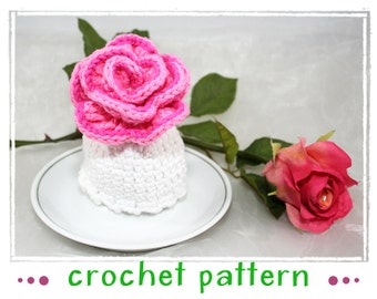 Rose - Egg Cozy - Crochet Pattern - PDF