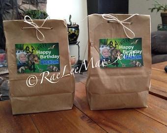 Dinosaur Treat Bags/Loot bags/Dinosaur Gift bags/Dinosaur Favor Bags/custom Dinosaur Birthday treat bags/Dinosaur Party Decorations