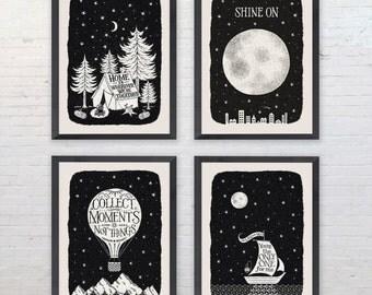 Big Sky Monochrome Travel Print Collection
