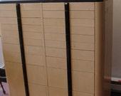 Industrial Metal & Wood Dental Cabinet