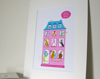 New Baby 'Music House' Print