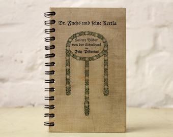 "Spiral Bound Notebook Tartuensis College ""Dr. Fuchs"" Recycled Vintage Book"