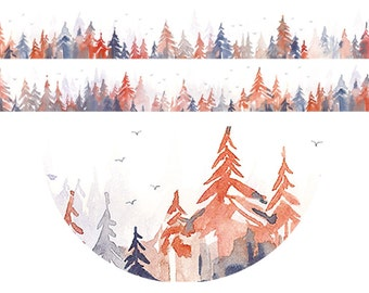 1 Roll of Limited Edition Washi Tape: Red Cedar Tree