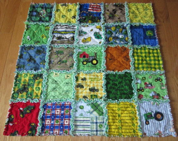 Baby Rag Quilt All Different John Deere Fabric On By 1723diane