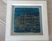 Padstow Harbour Buildings Hand Painted Glass Photo Frame