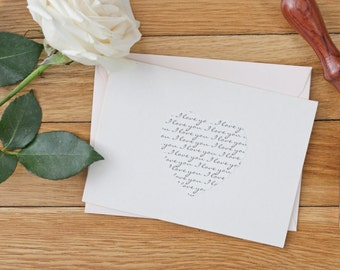 I love you card - Handmade card - Anniversary Card - Paper Anniversary - Valentines Day card - Wedding Day Card
