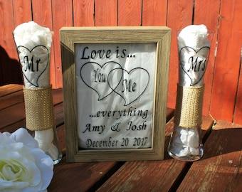 Unity Sand Ceremony Shadow Box,Sand Ceremony, Chic Wedding Sand Ceremony, Sand Ceremony Box Set, Beach Ceremony, Barn wood Unity Ceremony