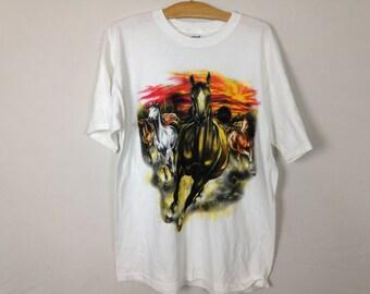 90s horse shirt size M