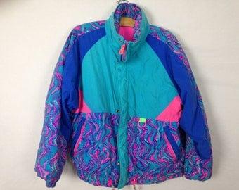 90s pastel windbreaker jacket size M/L