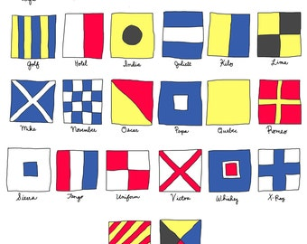 Nautical Signal Flags Print