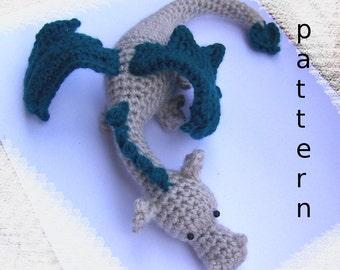 Crochet Baby Dragon-Instant Download Crochet Pattern-Toy Dragon-Pocket Dragon-Amigurumi Dragon-DIY Crochet Toy-Stuffed Dragon-Small Dragon