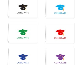 Guajolote Prints Graduation Cards and Envelopes Assorted Colors 12 Count