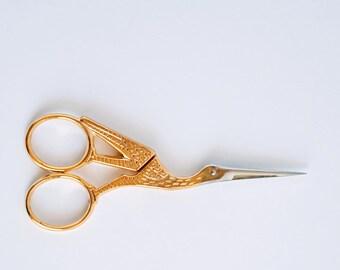 Golden swan scissors vintage style