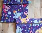 My Little Pony Rainbow Dash Pinkie Pie Twiligh Sparkle Snack and Sandwich bag set