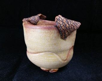 Chingwenarts, handmade stoneware  succulents planter pot with drain hole#E067