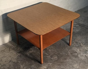 Mid-Century Modern Corner Table / End Table / Nightstand - SHIPPING NOT INCLUDED