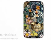 Botanical Sugar Skull Galaxy S5 Case - Dual Layer Galaxy S5 Case - Floral Artwork Bali Botaniskull