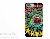 Tribal Aztec Sun - Colorful iPhone 7 PLUS Tough Case - Dual Layer Protection - Sun Shaman