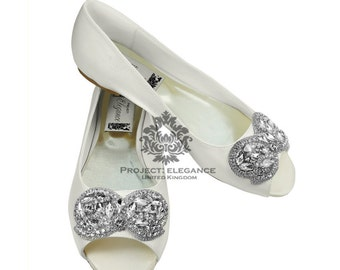 ivory wedding shoes ballerinas open peep toed flat shoes wedding ballerinas bridal