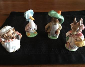 Four Beatrix Potter Figurines