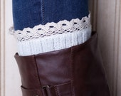 5 Colors! Adult Boot Cuff With Lace Trim