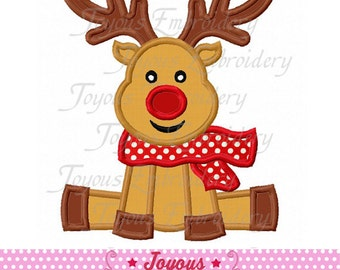 Instant Download  Christmas Reindeer Applique Machine Embroidery Design NO:1846