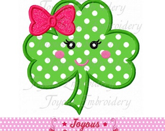 Instant Download St.Patrick's Clover For girls Applique Machine Embroidery Design NO:1973