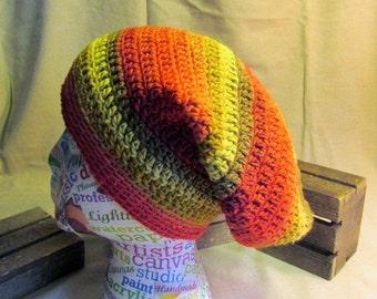 Slouchy Hat, Slouchy Beret, Tam Hat, Slouchy Beanie, Winter Hat, Crochet Beanie, Festival Wear